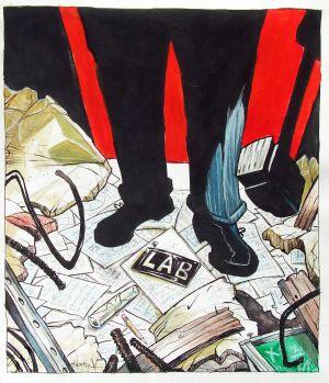 Scientist Destroys His Lab (cover)
