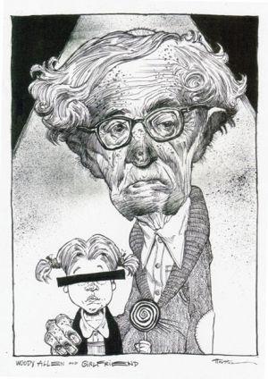 Woody Allen and Girlfriend